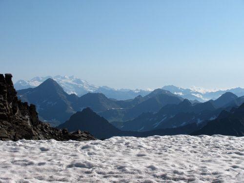 mountain snow hiking