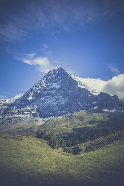 mountain mountains alpine