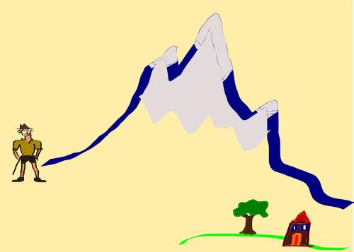 mountain mountaineer wanderer