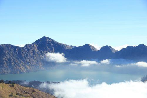 mountain mountain view rinjani