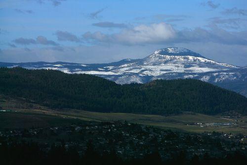 mountain village scene