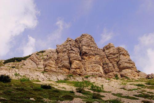mountain dolomites rock