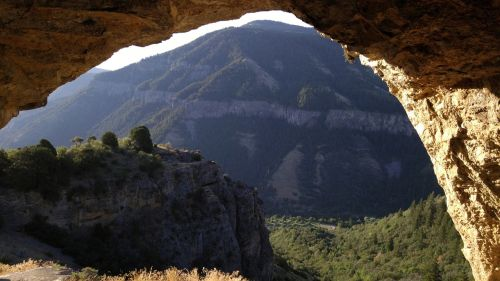mountain cave arch