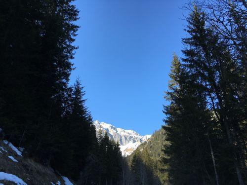 mountain sky blue