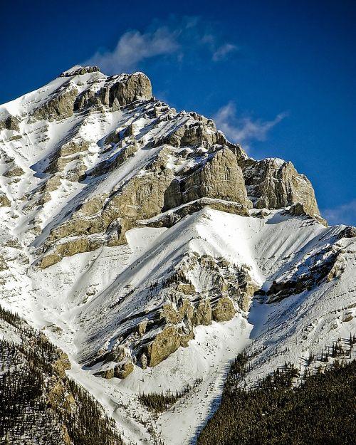 mountain peak snow