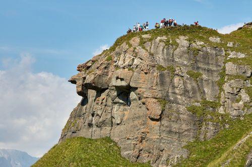 mountain human landscape