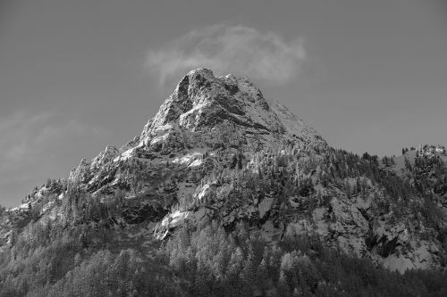 mountain b-w landscape