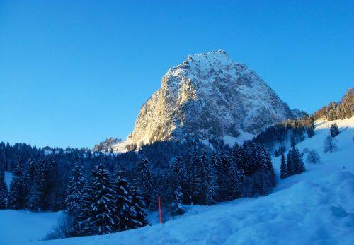 mountain snow alpine