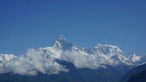 mountain annapurna sky