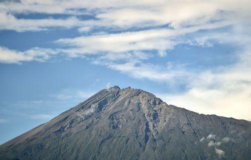 mountain volcanic mountain mount meru