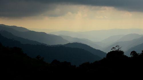 mountain sunlight landscape