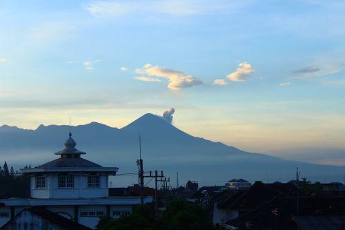 mountain morning volcano