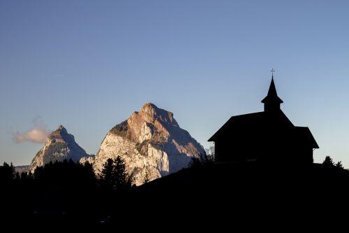 mountain chapel switzerland