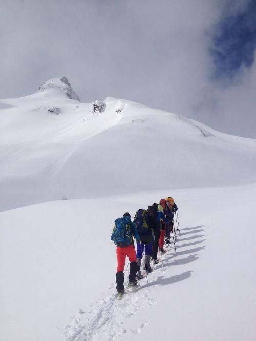 mountain snow snowshoes