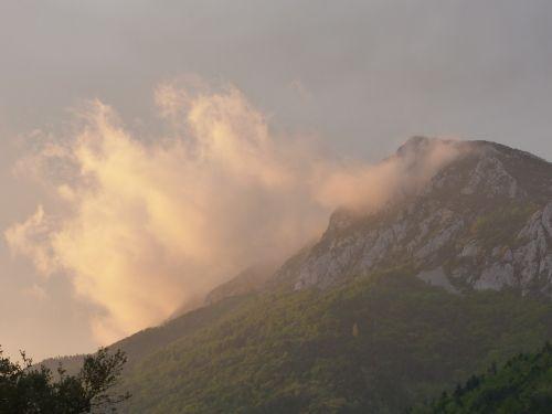 mountain sky cloud
