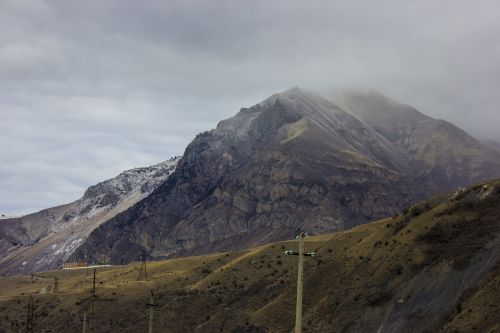 mountain fog autumn