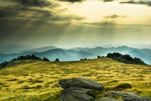 mountain sunset romania