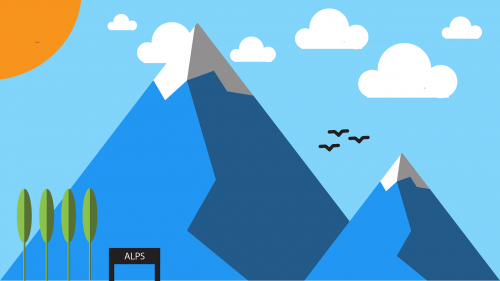 mountain minimal material design