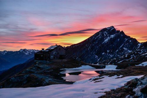 mountain snow panorama