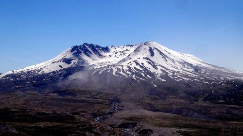 mountain volcano snow