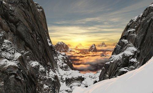 mountain  snow  high