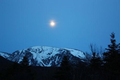 mountain moon scenic