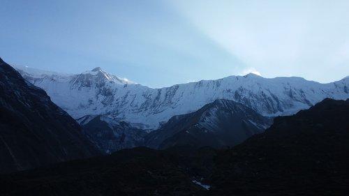 mountain  himalayas  nepal