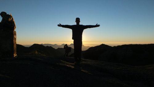 mountain freedom sunset
