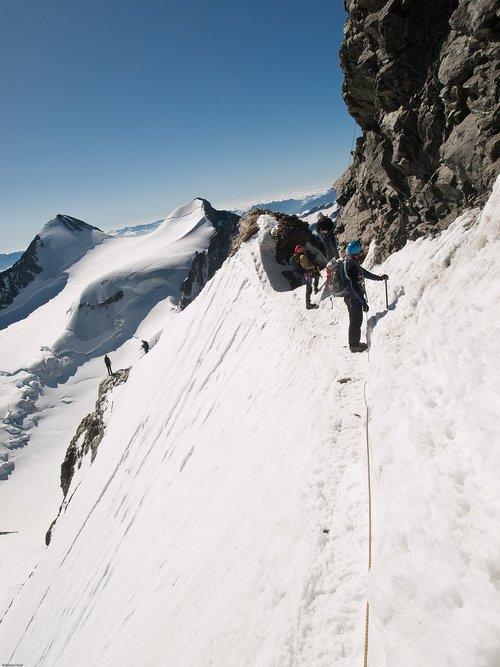 mountain  high-altitude mountain tour  piz bernina