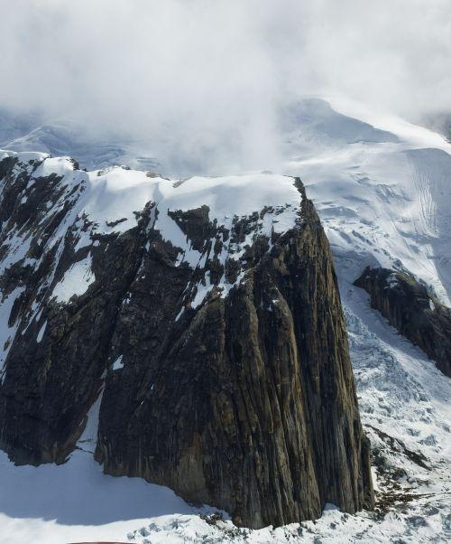mountain glacier rock