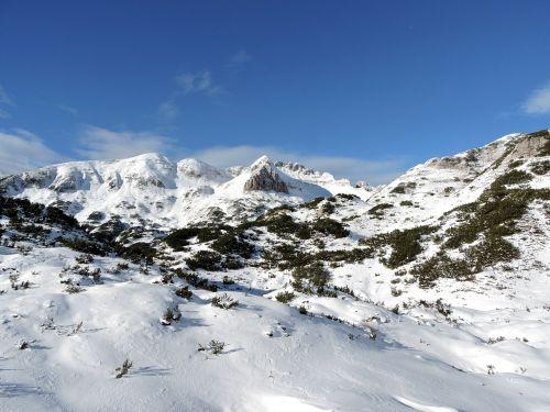 mountain sky snow