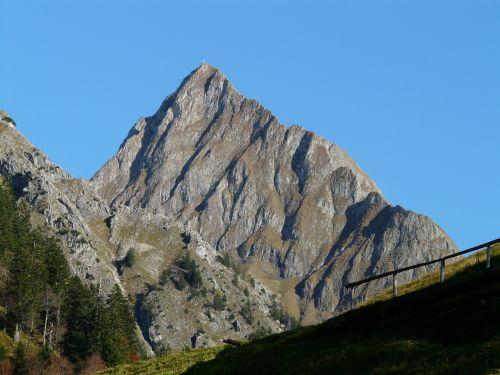 mountain höfats summit cross