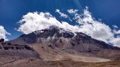 mountain bolivia sky