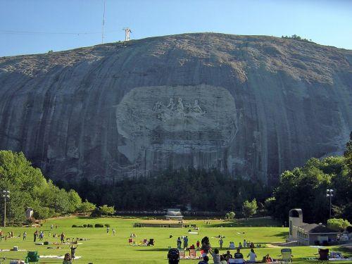 mountain stone sculpture