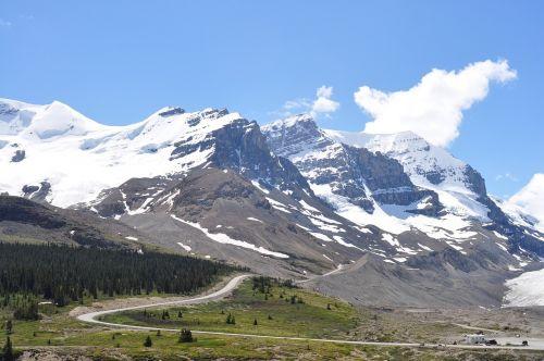 mountain snow banff