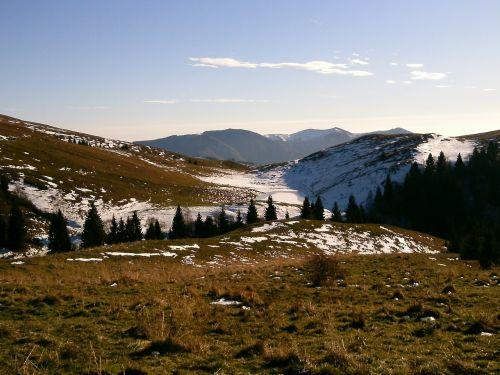 mountain snow walk