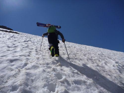 mountain ski snow