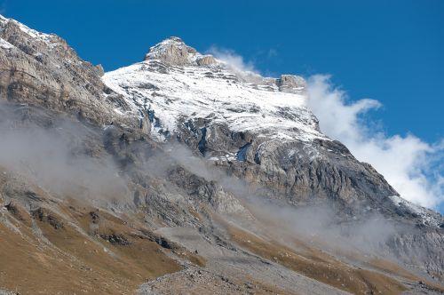 mountain summit snow