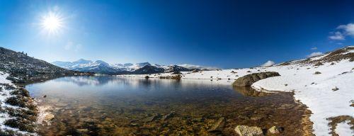 mountain lake wide
