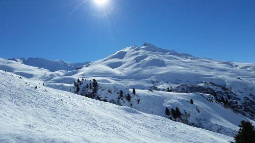 mountain skiing winter