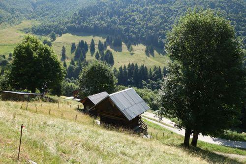 mountain chalet alps
