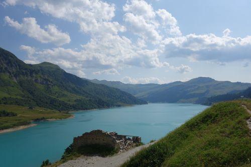 mountain lake alps