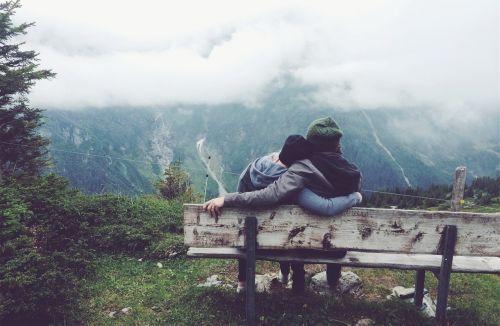 mountain couples cloud