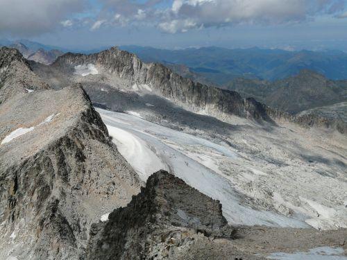 mountain sky glacier