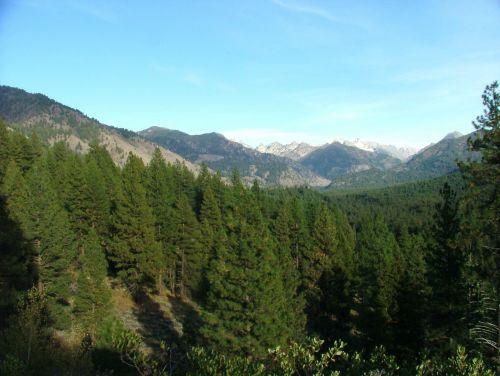 mountain range view