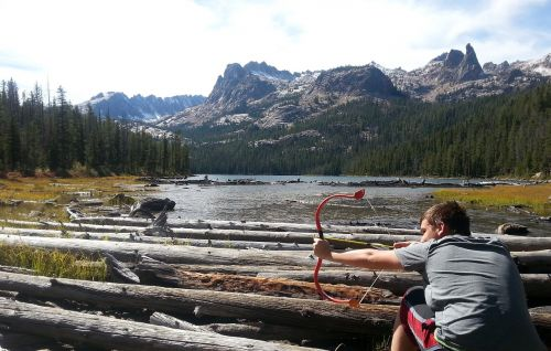 mountain bow arrow