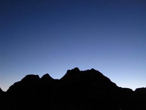 mountain nighttime evening