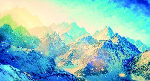 mountain snow snow mountain