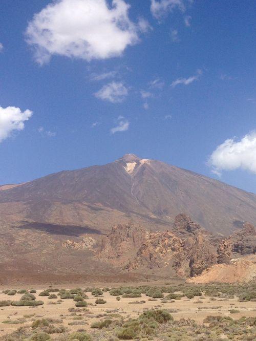 kalnas,teide,Tenerifė,el teide,vulkanas,Ispanija,sala,aukščiausiojo lygio susitikimas,kraštovaizdis,pico de teide