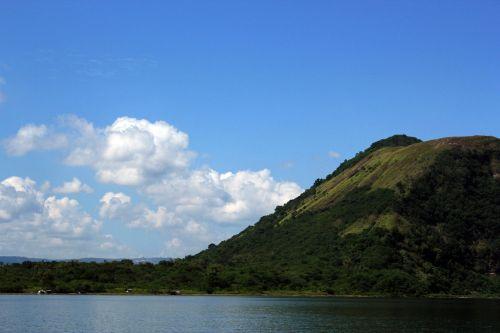 kalnas, žalias kalnas, debesys, gamta, miškas, medžiai, lapai, žalias, aukštas & nbsp, kalnas, didelis & nbsp, kalnas, kalnas ir debesys 4